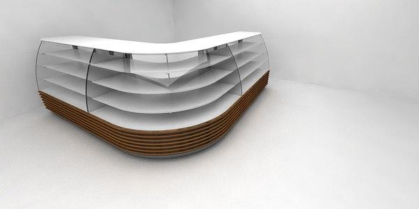 3D patisserie cupboard model