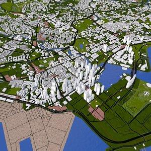 3D singapore buildings roads