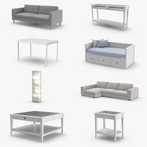 3D model scandinavian furniture design coffee table