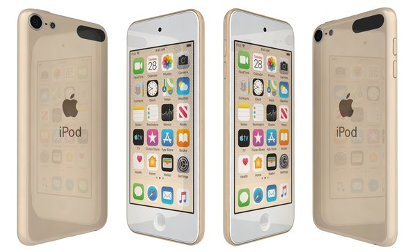 apple ipod touch gold 3D model