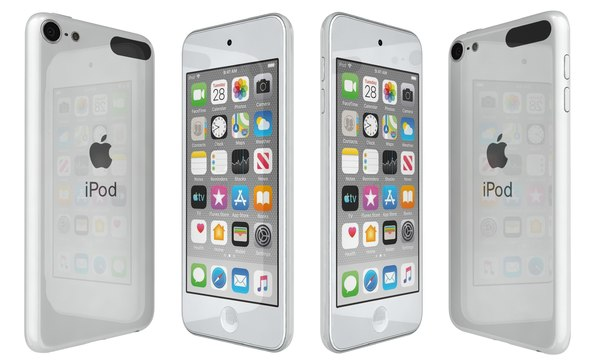 apple ipod touch white 3D