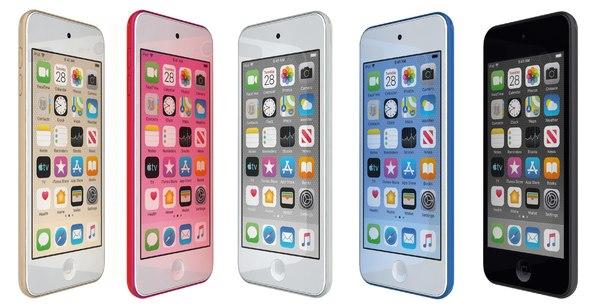 3D apple ipod touch colors