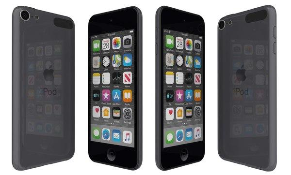 3D model apple ipod touch black