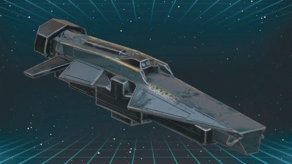 spaceship corvette 3D