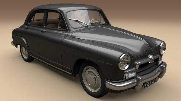 3D aronde 1952 simca model