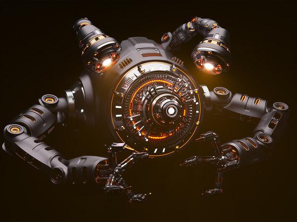 drone sci-fi model