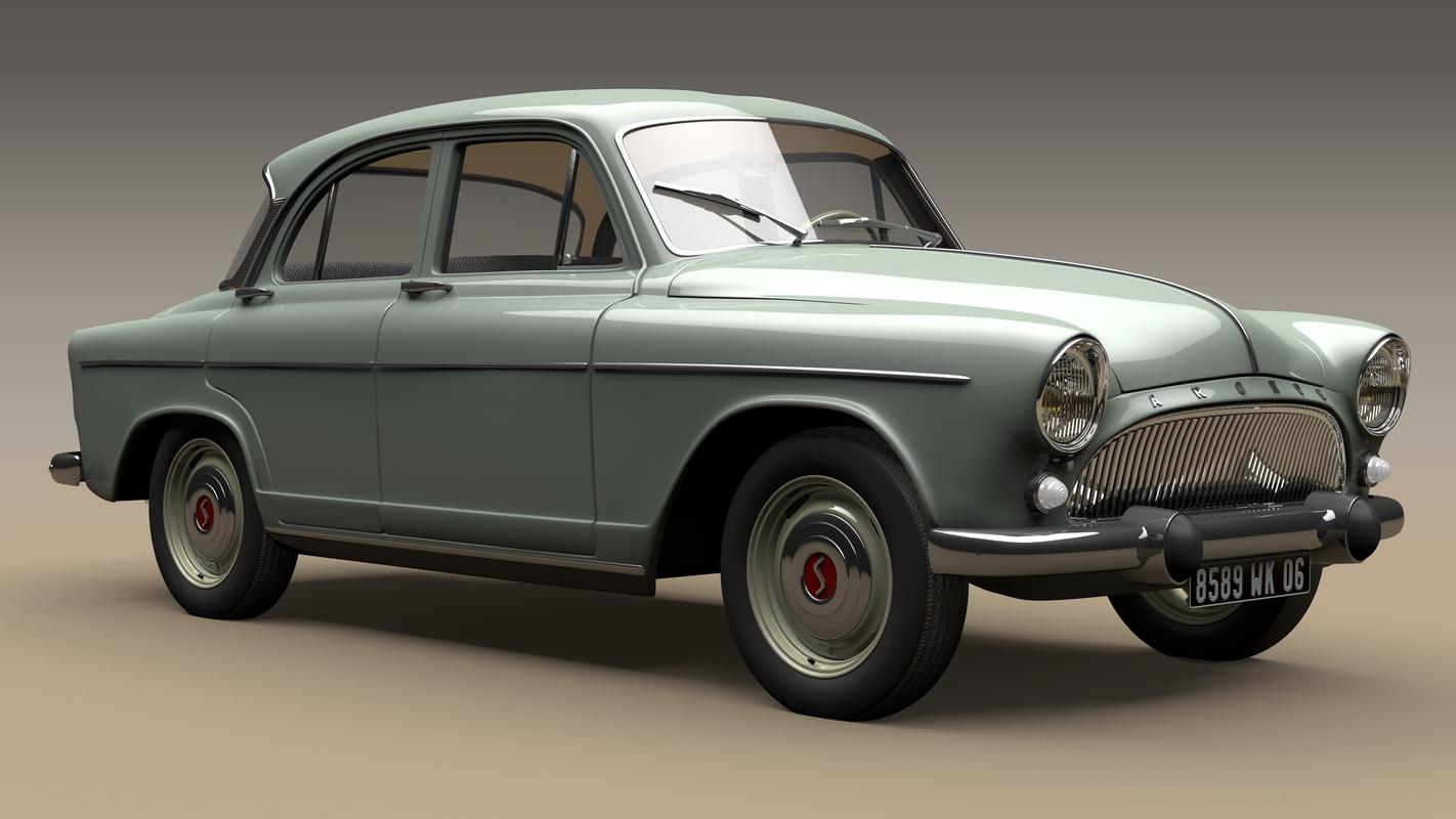 aronde 1960 simca 3D model