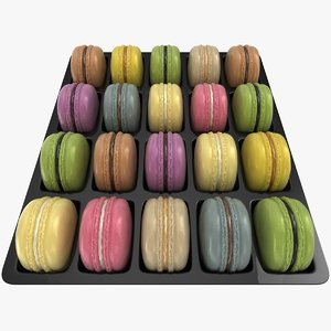3D 20 macaron box
