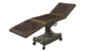 3D old operating table