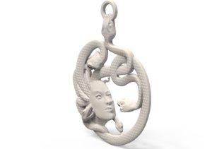 3D model medusa medallion