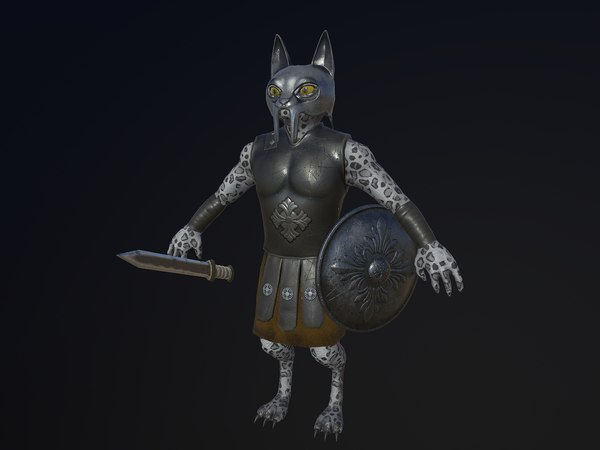 cat warrior character model