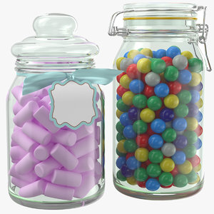candy jars 3D