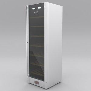 3D model smeg wine cooler