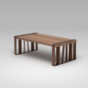 3D model intersect cocktail table