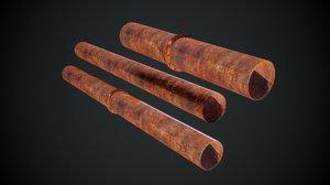 3D pipe pbr model