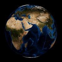 printable earth oceans geometry 3D model