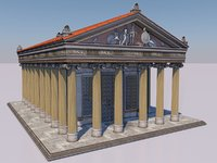 Greek temple of ionic order