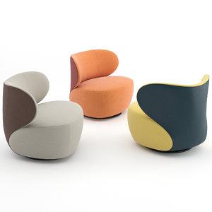 bao walter knoll armchair 3D model