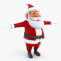 cartoon santa claus 3D model