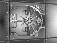 3D bank vault animation model