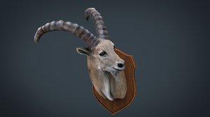 wild goat trophy 3D model