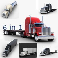 semi truck v2 3D