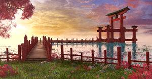torii japan japanese 3D model