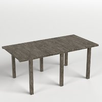 wooden pier module 3D
