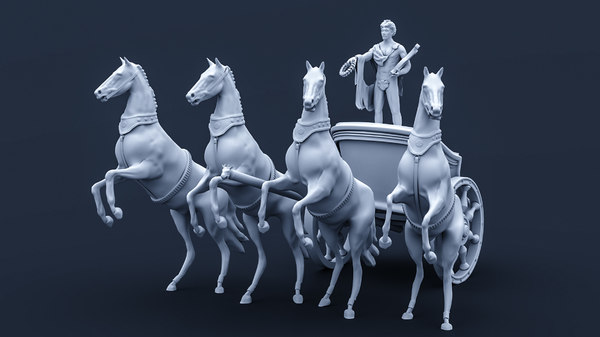 bolshoy theatre statue 3D