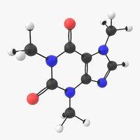 caffeine molecule 3D model