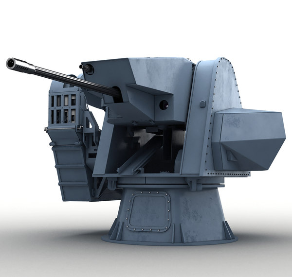 modern naval turret 3D model