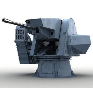 modern naval turret 3D model