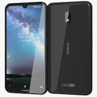 realistic nokia 2 black 3D model