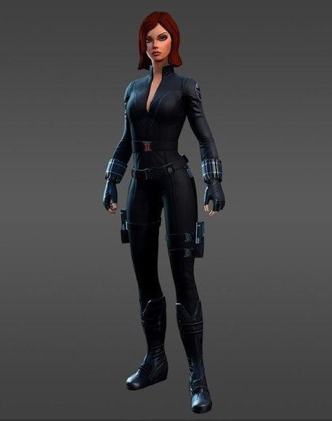 3D black widow model