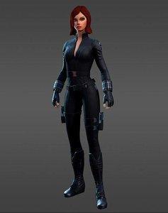 3D black widow model