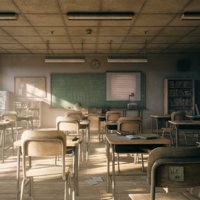 3D model classroom class old
