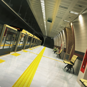 modern subway station model