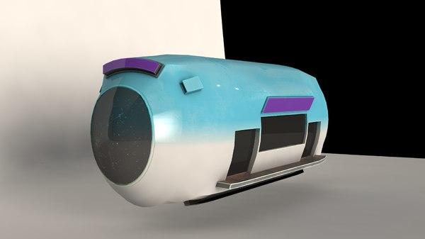 car bus capsule 3D model