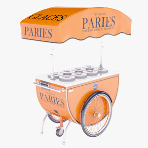 ice cream cart 3D