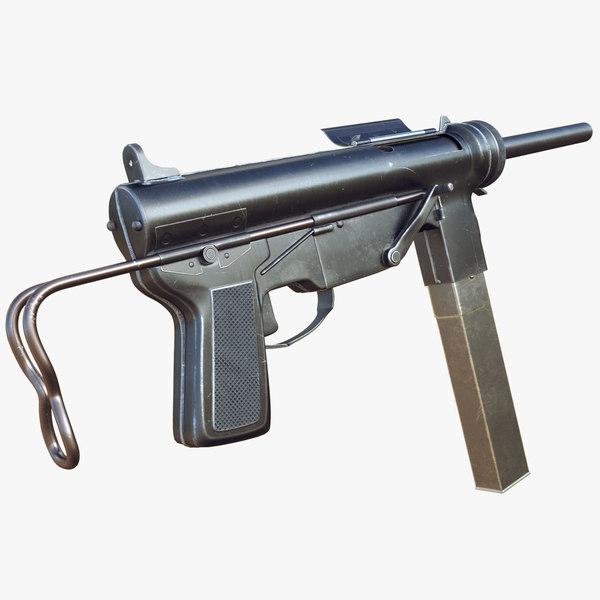 3D m3 grease gun 2 model