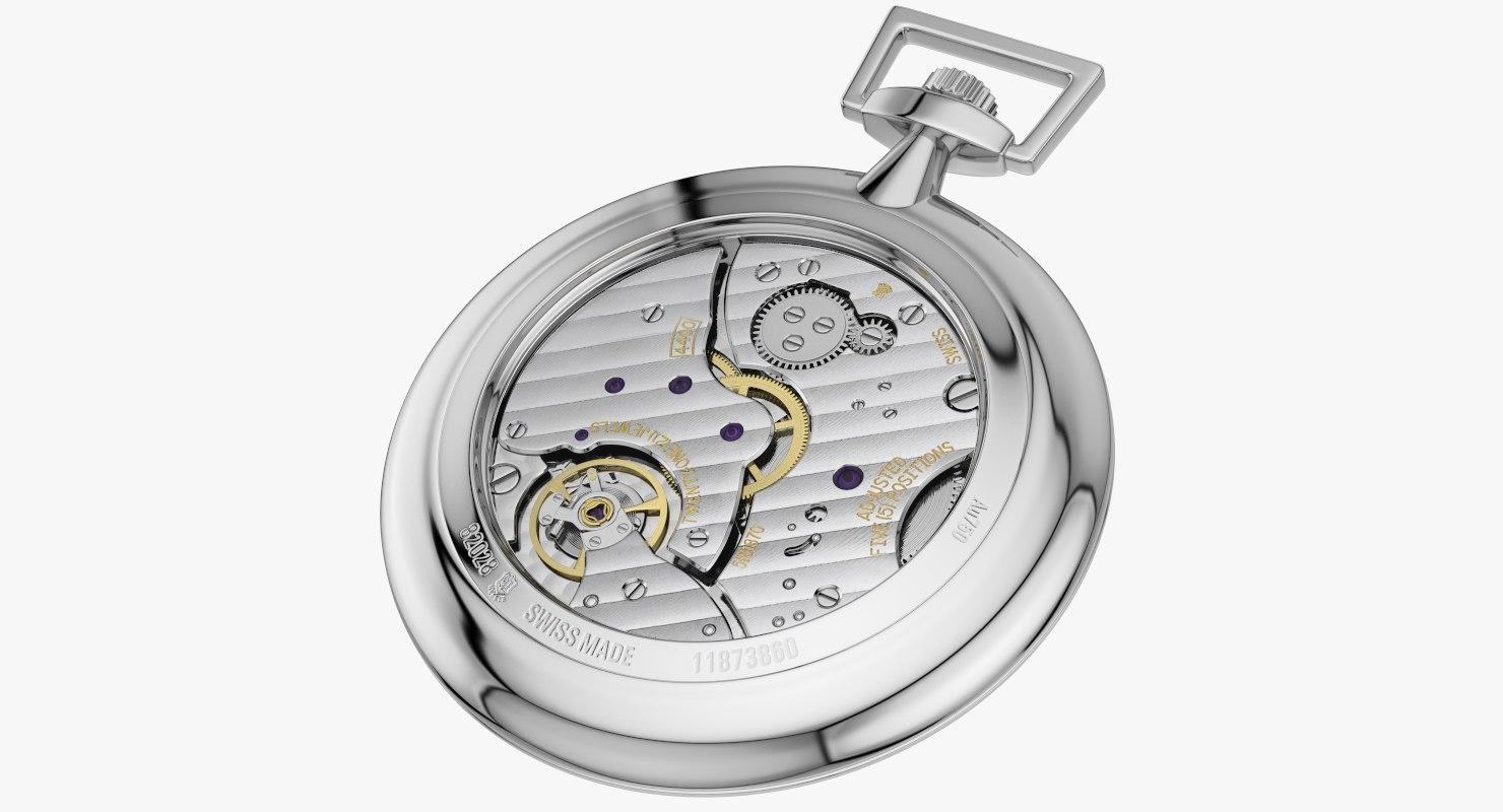 pocket watch mechanism model