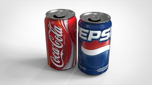 3D soda drink beverage