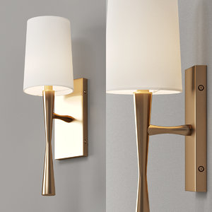 modern sconce hourglass 3D model