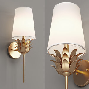 3D wall sconce fresh model