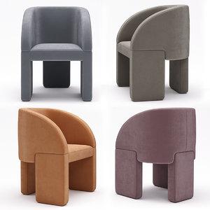 chair baxter lazybones 3D