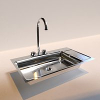 3D simple sink kitchen model