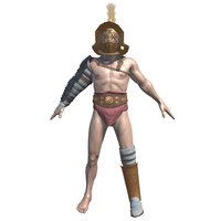 3D model roman gladiator
