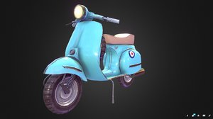 3D vespa low-poly model