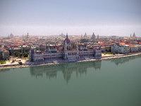 3D city building cityscape