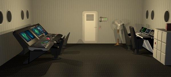 spacecraft controlroom 3D model